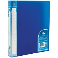 Concord Natural Ring Binder, A4, 2 O-Ring, 25mm Capacity, Blue, Pack of 10