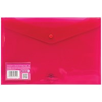 Concord Foolscap Stud Wallet Files, Vibrant, Pink, Pack of 5