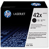 HP 42X Black Laser Toner Cartridge