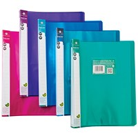 Concord Flexible Display Book, 24 Pockets, A4, Assorted, Pack of 10