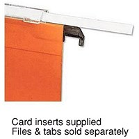 Bantex Flex Lateral File Card Inserts, 25 Per Sheet, White, Pack of 10