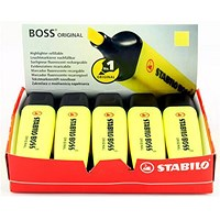 Stabilo Boss Highlighters, Yellow, Pack of 10