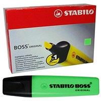 Stabilo Boss Highlighters, Green, Pack of 10