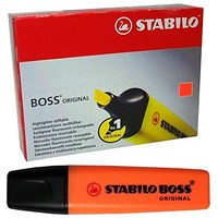 Stabilo Boss Highlighters, Orange, Pack of 10