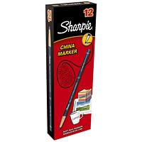 Sharpie China Wax Marker Pencil, Blue, Pack of 12