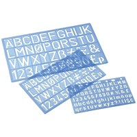 Stencil Pack of Letters Numbers and Symbols, 10mm 20mm 30mm