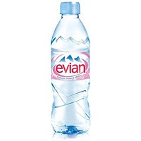 Evian Natural Mineral Water - 24 x 500ml Plastic Bottles