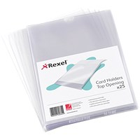 Rexel Card Holder, Nyrex, Open on Short Edge, 203x127mm, Pack of 25