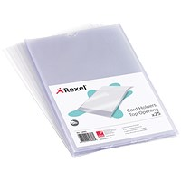 Rexel Card Holder / Nyrex / Open on Short Edge / A5/ Pack of 25