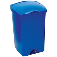 Addis Lift Up Top Bin, 50 Litres, Blue