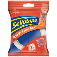 Sellotape Double-sided Tape, 25mm x 33m, Pack of 6