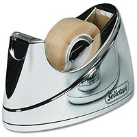 Sellotape Small Desktop Tape Dispenser, Non-slip, Capacity: W19mmxL33m, Chrome
