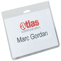 Durable Name Badges Security Without Clip, 90x60mm, Pack of 20