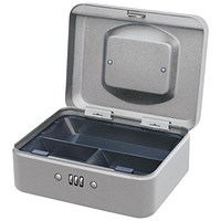 5 Star Combination Cash Box Metal 200mm Mercury