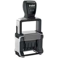 Trodat Professional 5030 Self-inking Dater Stamp with Metal Frame
