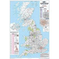 Map Marketing Postcode Areas Map Unframed 12.5 Miles to 1 inch Scale W830xH1200mm