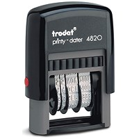 Trodat Printy 4820 Line Dater Stamp / Refillable / Black
