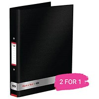 Black n' Red Ring Binder, 25mm Capacity, A4, Buy 1 Get 1 Free