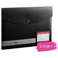 Black n' Red A4 Snap Wallets, Opaque, Pack of 5, Buy 1 Pack Get 1 Free