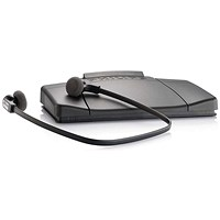 Philips Transcription Kit Headset 234 Foot Control 210 Software Web Licence Black Ref LFH7177/05