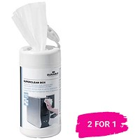 Durable Superclean Moist Cleaning Wipes / Tub of 100 / Buy 1 get 1 free