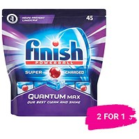 Finish Quantum Max Dishwasher Tablets / Pack of 45 / Buy 1 pack get 1 free