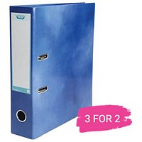Elba A4 Lever Arch File, 70mm Spine, Blue, Buy 2 files Get 1 Free