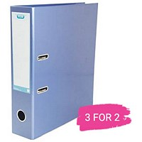 Elba A4 Lever Arch File, 70mm Spine, Metallic Blue, Buy 2 files Get 1 Free