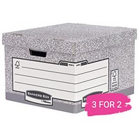 Fellowes Heavy Duty Bankers Box, Large, Pack of 10, Buy 2 Packs Get 1 Free