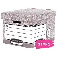 Fellowes Heavy Duty Bankers Box, Standard, Pack of 10, Buy 2 Packs Get 1 Free
