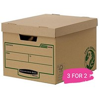 Fellowes Heavy Duty Earth Series Bankers Box, Pack of 10, Buy 2 Packs Get 1 Free