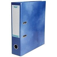 Elba A4 Lever Arch File, Laminated, Blue, Pack of 10, Buy 1 Pack and Get a Free Pack of Elba Dividers