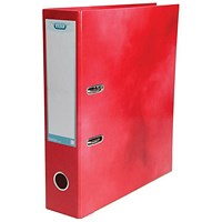Elba A4 Lever Arch File, Laminated, Red, Pack of 10, Buy 1 Pack and Get a Free Pack of Elba Dividers