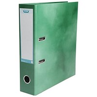 Elba A4 Lever Arch File, Laminated, Green, Pack of 10, Buy 1 Pack and Get a Free Pack of Elba Dividers