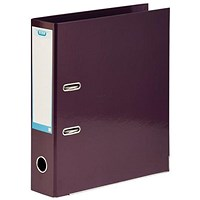 Elba A4 Lever Arch File, Laminated, Purple, Pack of 10, Buy 1 Pack and Get a Free Pack of Elba Dividers