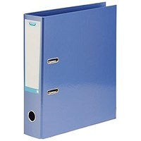 Elba A4 Lever Arch File, Laminated, Metallic Blue, Pack of 10, Buy 1 Pack and Get a Free Pack of Elba Dividers