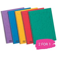 Europa Twinwire Notebook, A4, Sidebound, 120 Pages, Assortment A, Pack of 10, Buy 1 Pack Get 1 Pack Free