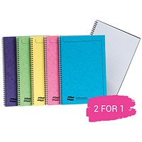 Europa Twinwire Notebook, A4, Sidebound, 120 Pages, Assortment C, Pack of 10, Buy 1 Pack Get 1 Pack Free