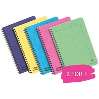 Europa Twinwire Notebook, A5, Sidebound, 120 Pages, Assortment C, Pack of 10, Buy 1 Pack Get 1 Pack Free
