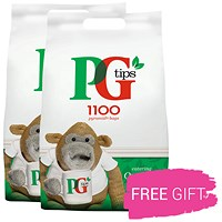 PG Tips 1 Cup Pyramid Tea Bags, Pack 1100, Buy 2 Pack Get 2 Free Elizabeth Shaw Chocolates