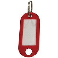 5 Star Key Fob, Red, 50x22mm, Pack of 100