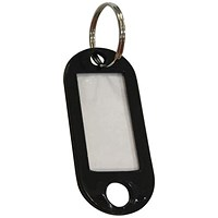5 Star Key Fob, Black, 50x22mm, Pack of 100