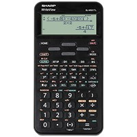 Sharp WriteView Scientific Calculator, Dot Matrix Display, 335 Functions, Black