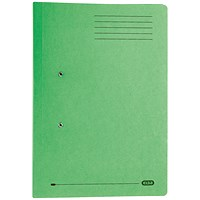 Elba Stratford Pocket Transfer Files, 320gsm, Foolscap, Green, Pack of 25