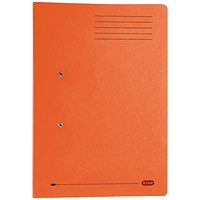 Elba Stratford Pocket Transfer Files, 320gsm, Foolscap, Orange, Pack of 25