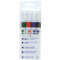Everyday Dry Wipe Markers, Assorted Colours, Pack of 4