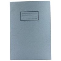 Silvine Plain Exercise Book, A4, 80 Pages, Blue, Pack of 10