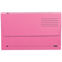 Elba Document Wallets Half Flap, 285gsm, Foolscap, Pink, Pack of 50