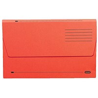Elba Document Wallets Half Flap / 285gsm / Foolscap / Red / Pack of 50