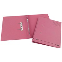 Elba Spirosort Transfer Files, 285gsm, Foolscap, Pink, Pack of 25